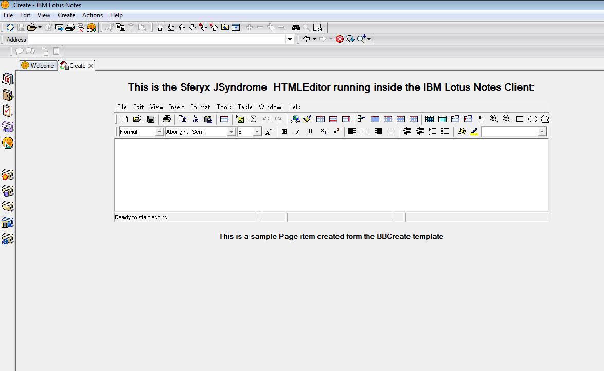 ibm lotus notes html editor and sferyx jsyndrome applet edition